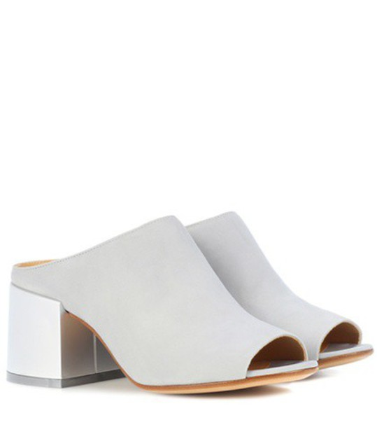 MM6 Maison Margiela Suede sandals in grey