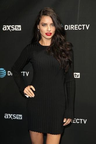 dress black dress knitted dress long sleeve dress