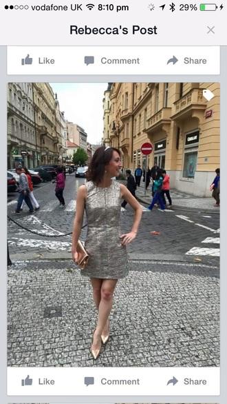 dress metallic dress