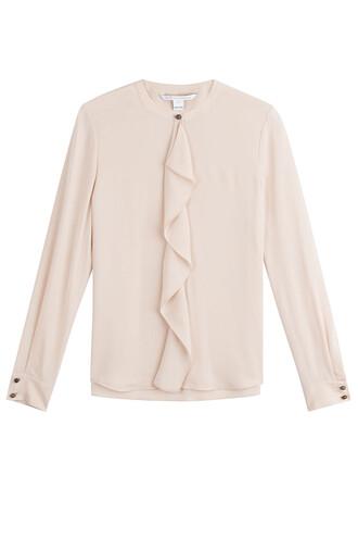 blouse ruffle silk rose top