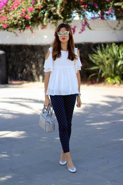 marilyn's closet blog blogger blouse pants bag sunglasses make-up
