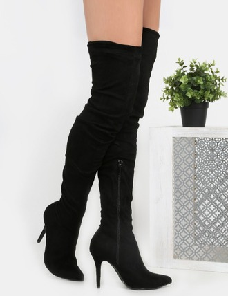 shoes girl girly girly wishlist long boots black high heels boots boots suede suede boots over the knee boots knee high boots