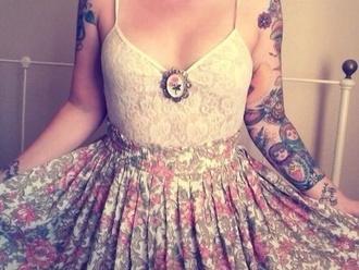 dress jewels lace skirt floral flower dress lace top dress lace top