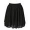 Chiffon short skirt - black