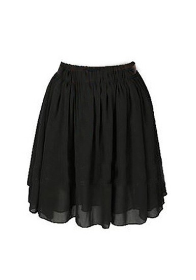 Chiffon Short Skirt - Black