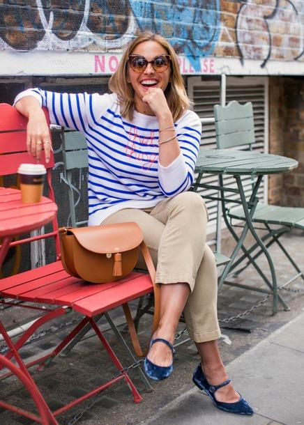 blogger top pants shoes sunglasses bag