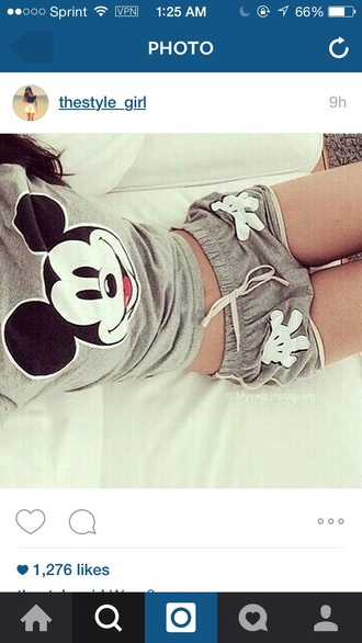 shirt shorts mickey mouse t-shirt grey nightwear pajamas pants lovely cute midi skirt mickey mouse hoodies shoes sweet pajama pants grey with mickey mouse minnie mouse cute shorts disney cool hands white top mickey mouse disney grey t-shirt