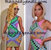 dress,colorful,beyonce dress,raggedyendz,cute dress,tetris,beyonce,club dress,clubwear