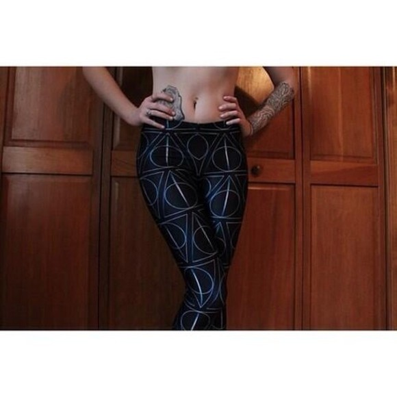 harry potter deathly hallows pants leggings