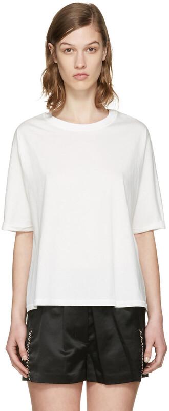 t-shirt shirt white silk top
