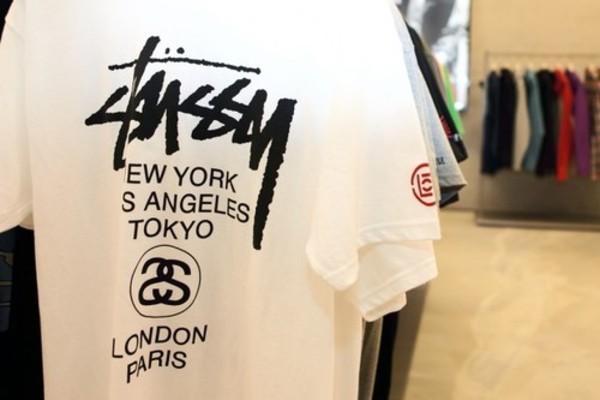 t-shirt stussy new york city swag