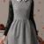 Metallic Dot Dress with Bead Shirt Collar - Choies.com