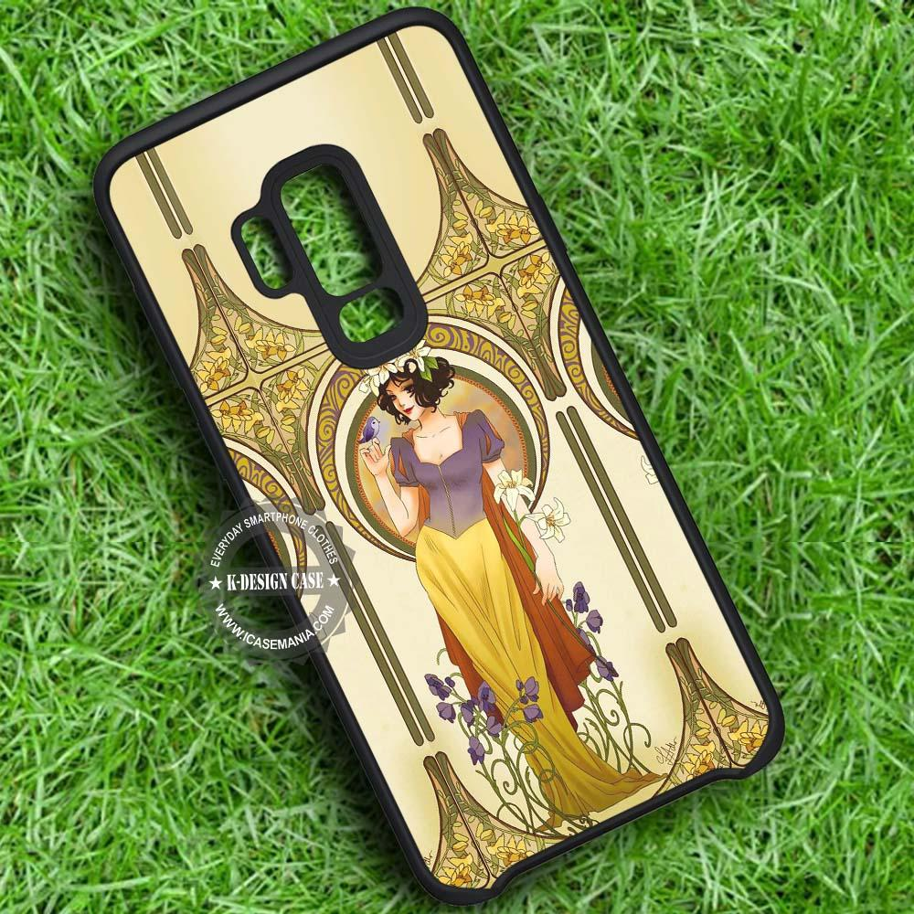 Alphonse Mucha Inspired Snow White - Samsung Galaxy S8 S7 S6 Note 8 Cases & Covers #SamsungS9