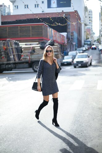 the classy cubicle blogger sweater dress shoes jacket jewels bag sunglasses
