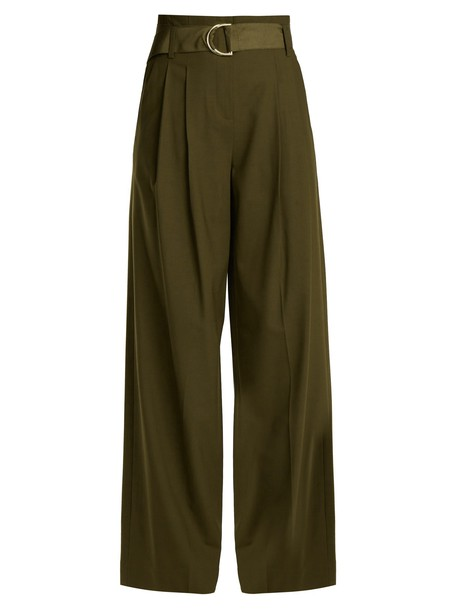 high wool khaki pants