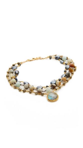 opal anklet black jewels