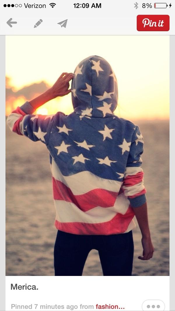 jacket american flag american flag sweatshirt