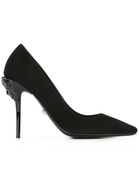 ef27ea3f12b16 VERSACE Versace 'Palazzo Medusa Head' pumps, Women's, Size: 39, Black,  Suede/Leather. in stock