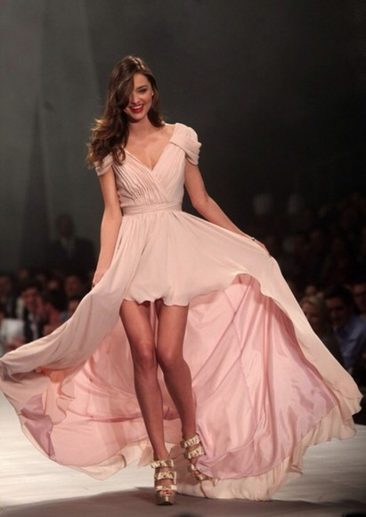 dress miranda kerr pastel nude