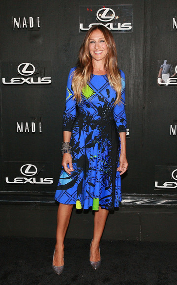 sarah jessica parker dress shoes fashion week 2014