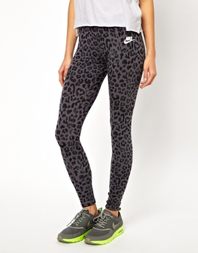 Nike | Nike Leopard Printed Leggings at ASOS