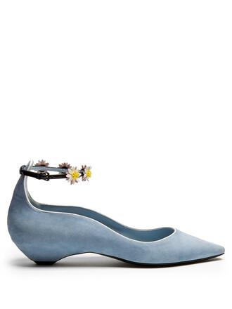 daisy flats light blue light blue shoes