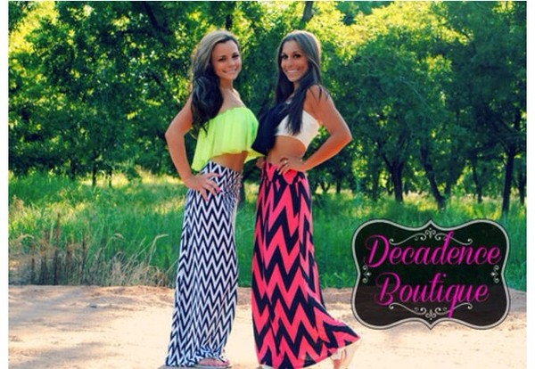 skirt blue and white pink and black green neon crop tops maxi maxi skirt shirt