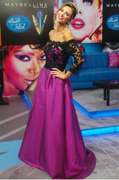 dress lace lace dress fuschia purple