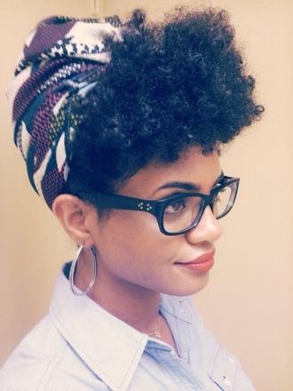 hair accessory curly hair natural hair scarf