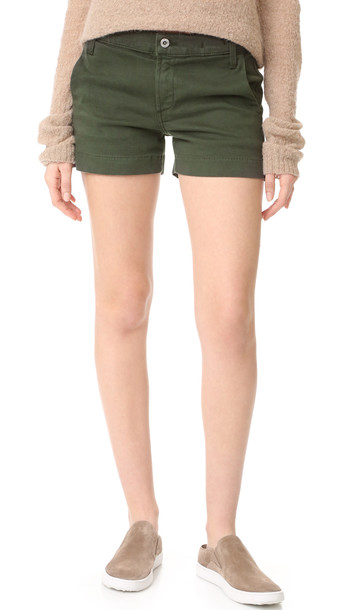 James Jeans Trouser Shorts - Deep Army