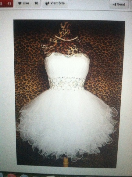 white dress homecoming dress Homecoming Dresses white homecoming dress