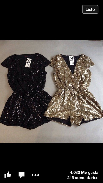 jumpsuit black or gold romper new years outfit new balance new year's eve new girl glitter dress style fashion gold sparkles hot glitter black gold sequins gold sequins