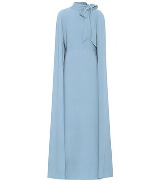 dress silk blue