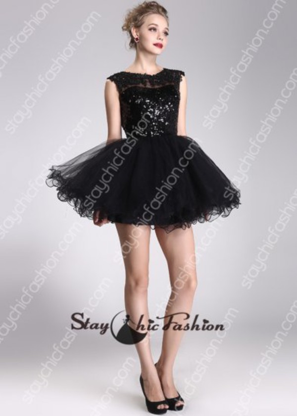 black short dress black sequined dress black prom dress black homecoming dress black cocktail dress black party dress black open back dress