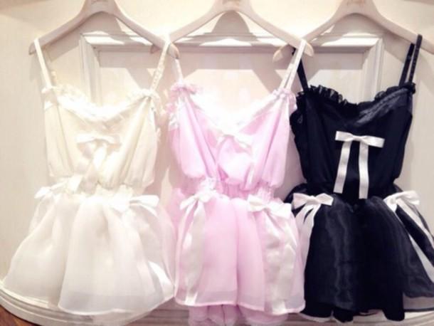c7956dc68891 dress cute pink yellow black sleep sheer lace silk kawaii sexy