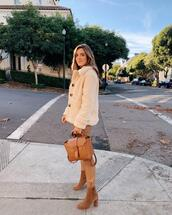gal meets glam,blogger,jacket,jeans,t-shirt,dress,shoes,coat,winter outfits,faux fur jacket,ankle boots
