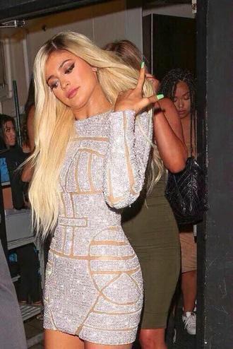 dress kylie jenner glitter glitter dress