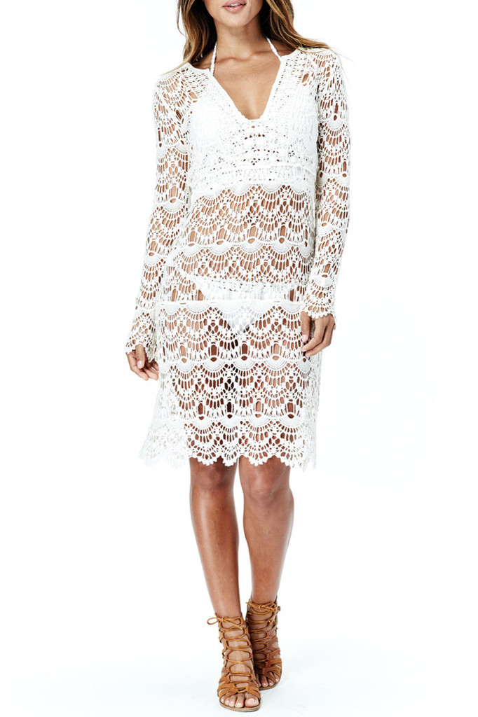 Oasis crochet knee length dress