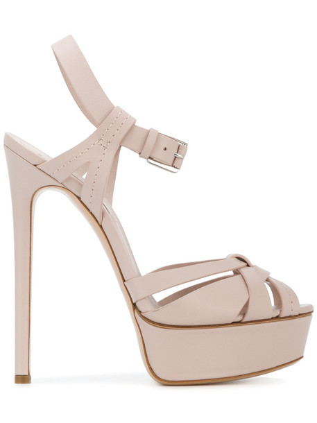 CASADEI women sandals platform sandals leather purple pink shoes