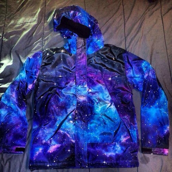 jacket blue galaxy print bule stars dope trill galaxy jacket hoodie windbreaker