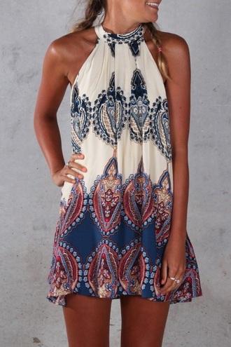 dress boho mini dress
