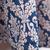 Vestido plisado floral barroco sin manga-Azul