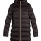 Funnel-neck quilted down coat