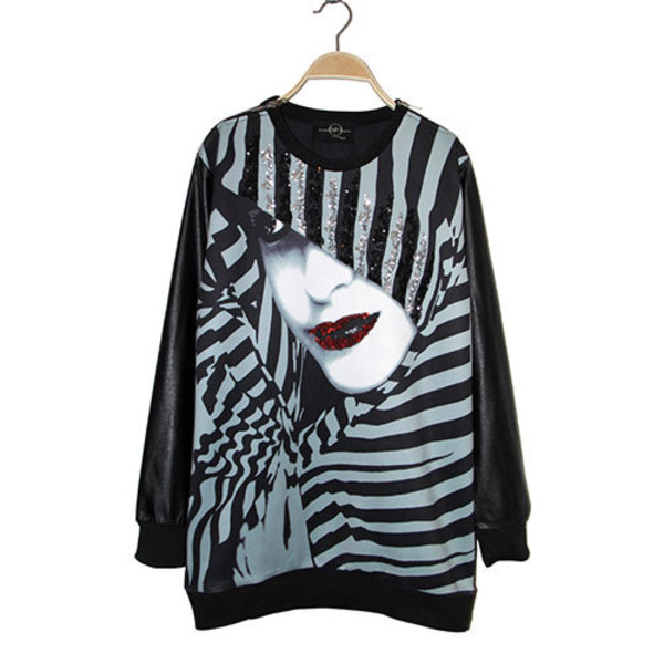 sweater sweatshirt women face cool