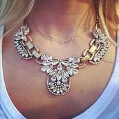 jewels,diamanté necklace,rhinestone necklace,statement necklace,jewelry,necklace,gold,gold necklace,arrow