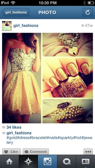 dress gold night moves sparkle girl