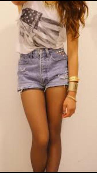 shorts shirt t-shirt jeans jewellry
