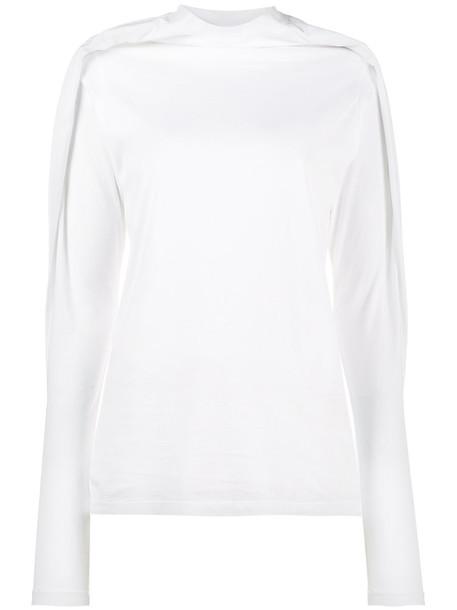 Y / Project t-shirt shirt t-shirt long women white cotton top