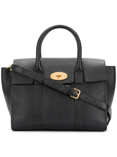Mulberry women leather black bag