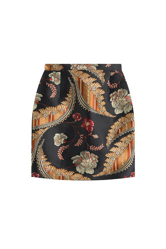 skirt mini skirt mini jacquard multicolor